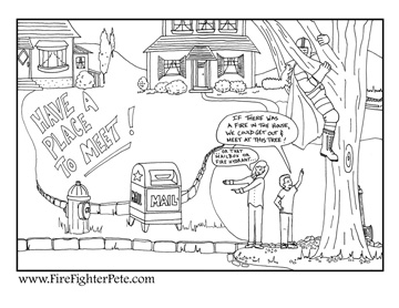 "Sample Coloring Sheet - ""Exit Sign"""