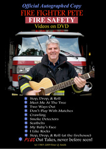 Fire Fighter Pete's Fire Safety Videos on DVD